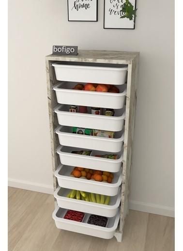 Bofigo Bofigo 8 Sepetli Mutfak Dolabı Çok Amaçlı Dolap Sebzelik Sarı